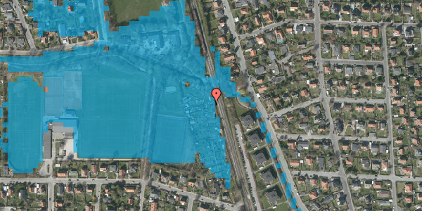 Oversvømmelsesrisiko fra vandløb på Rødhalsgangen 14, 2400 København NV