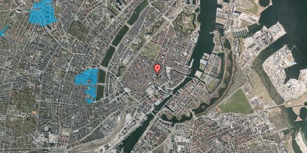 Oversvømmelsesrisiko fra vandløb på Købmagergade 2, 1. , 1150 København K