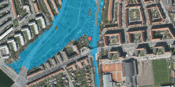 Oversvømmelsesrisiko fra vandløb på Peter Bangs Vej 220, 2000 Frederiksberg