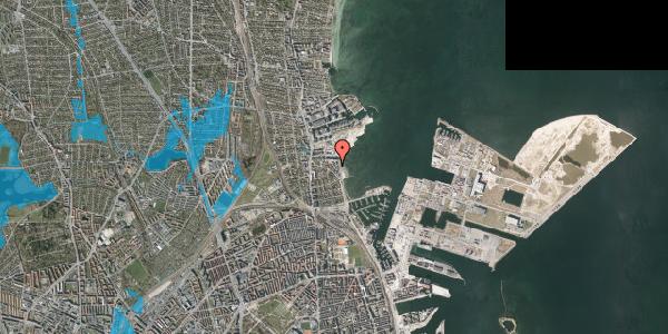 Oversvømmelsesrisiko fra vandløb på Strandpromenaden 65, 2. th, 2100 København Ø