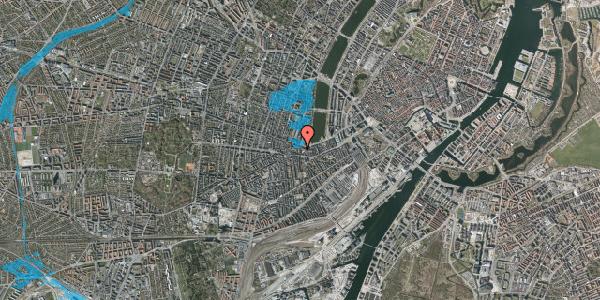 Oversvømmelsesrisiko fra vandløb på Vesterbrogade 62D, 1. tv, 1620 København V