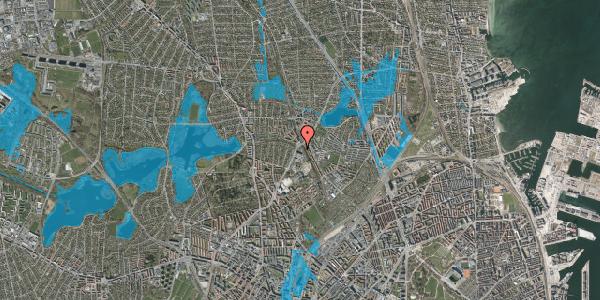 Oversvømmelsesrisiko fra vandløb på Hf. Bispevænget 32, 2400 København NV