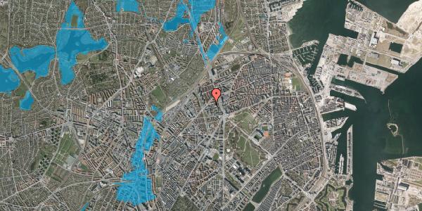 Oversvømmelsesrisiko fra vandløb på Ragnagade 15, 3. 2, 2100 København Ø