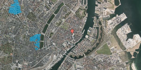 Oversvømmelsesrisiko fra vandløb på Østergade 16B, 1. , 1100 København K