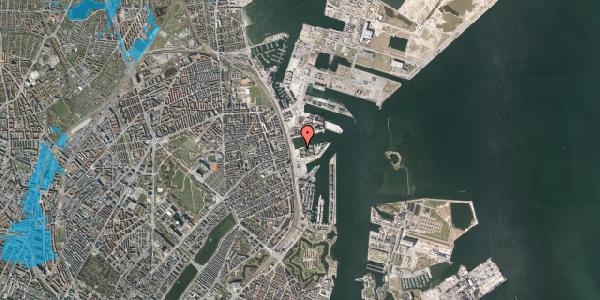 Oversvømmelsesrisiko fra vandløb på Marmorvej 11C, 2. th, 2100 København Ø