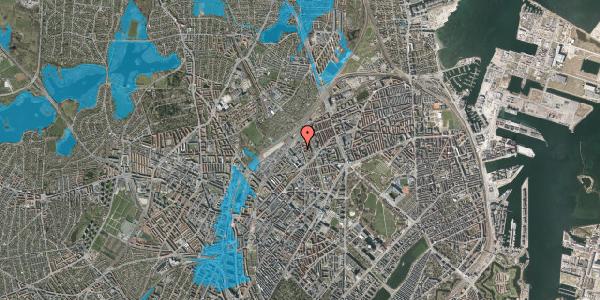 Oversvømmelsesrisiko fra vandløb på Emblasgade 137, 2100 København Ø