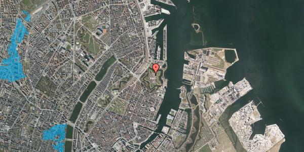 Oversvømmelsesrisiko fra vandløb på Kastellet 66, 2100 København Ø