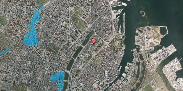 Oversvømmelsesrisiko fra vandløb på Lundsgade 9A, 1. , 2100 København Ø