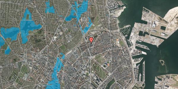 Oversvømmelsesrisiko fra vandløb på Æbeløgade 11, st. , 2100 København Ø