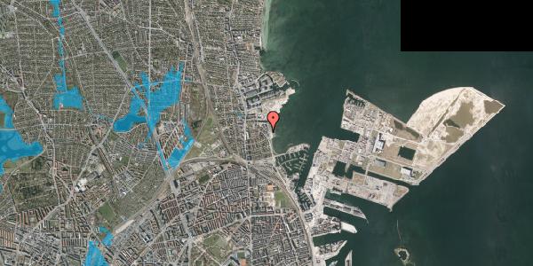 Oversvømmelsesrisiko fra vandløb på Strandpromenaden 51, 2100 København Ø