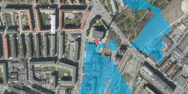 Oversvømmelsesrisiko fra vandløb på Lygten 18B, st. , 2400 København NV