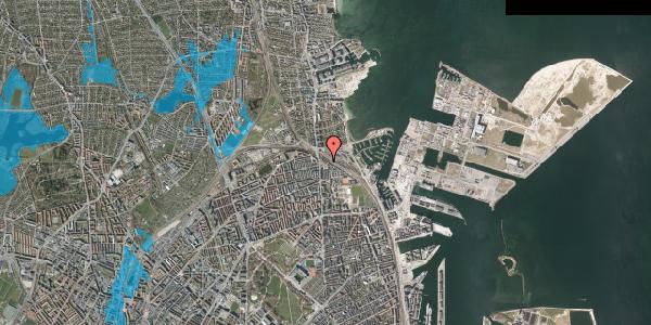Oversvømmelsesrisiko fra vandløb på Ved Sporsløjfen 3, 2100 København Ø