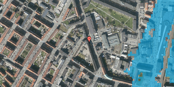 Oversvømmelsesrisiko fra vandløb på Frederiksborgvej 21, 4. tv, 2400 København NV
