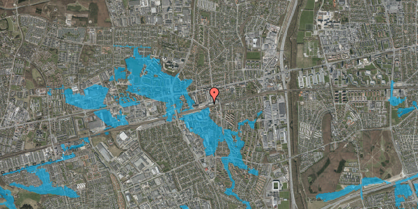 Oversvømmelsesrisiko fra vandløb på Banegårdsvej 110B, 2600 Glostrup