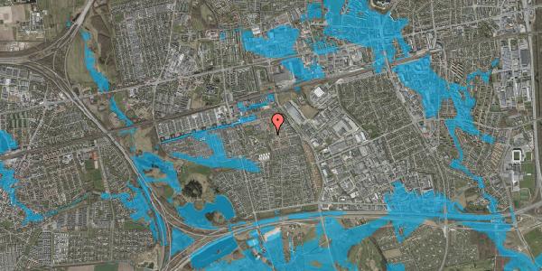 Oversvømmelsesrisiko fra vandløb på Rosenlunden 26, 2625 Vallensbæk