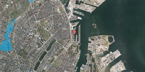 Oversvømmelsesrisiko fra vandløb på Amerika Plads 4, 6. 1, 2100 København Ø