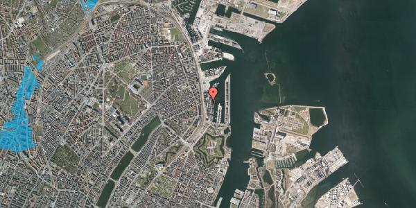 Oversvømmelsesrisiko fra vandløb på Amerika Plads 10A, st. , 2100 København Ø