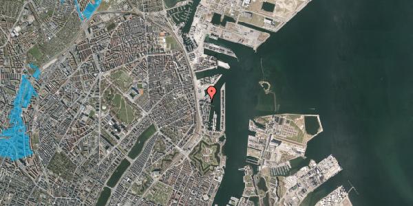 Oversvømmelsesrisiko fra vandløb på Amerika Plads 38, 4. , 2100 København Ø