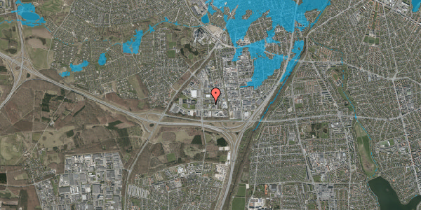 Oversvømmelsesrisiko fra vandløb på Ejby Industrivej 36, st. , 2600 Glostrup