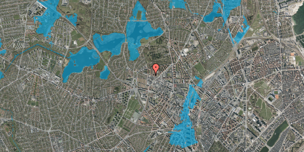 Oversvømmelsesrisiko fra vandløb på Dortheavej 42, 1. 1, 2400 København NV