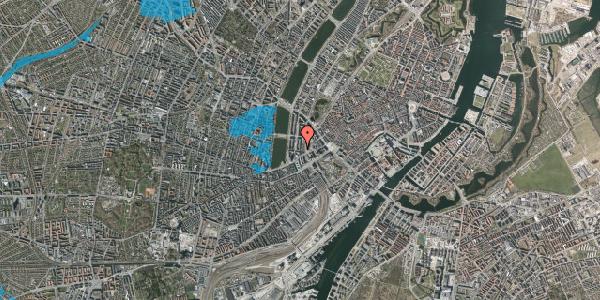 Oversvømmelsesrisiko fra vandløb på Vester Farimagsgade 13, 6. , 1606 København V