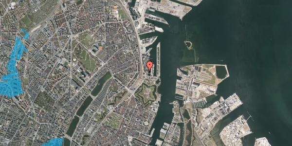 Oversvømmelsesrisiko fra vandløb på Dampfærgevej 6A, 2100 København Ø