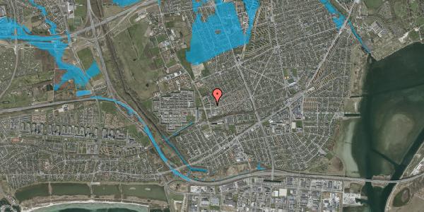 Oversvømmelsesrisiko fra vandløb på Mellemvangsvej 6, 1. tv, 2650 Hvidovre