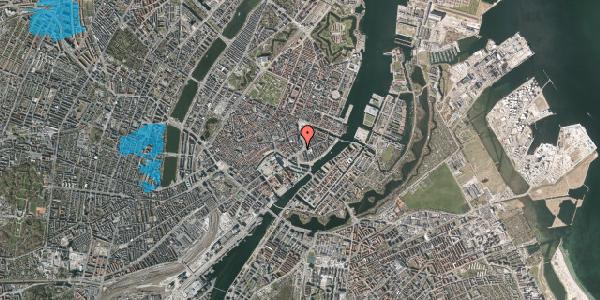 Oversvømmelsesrisiko fra vandløb på Holmens Kanal 14, st. , 1060 København K