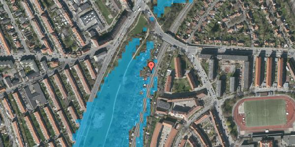 Oversvømmelsesrisiko fra vandløb på Hf. Grænsen 11, 2000 Frederiksberg