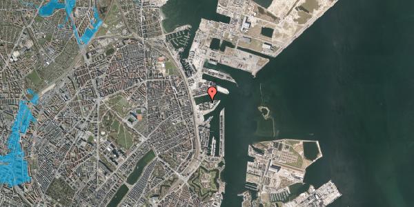 Oversvømmelsesrisiko fra vandløb på Marmorvej 35, 1. th, 2100 København Ø
