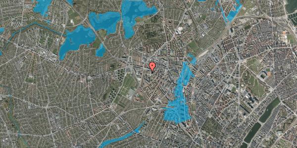 Oversvømmelsesrisiko fra vandløb på Hulgårds Plads 15, 2400 København NV