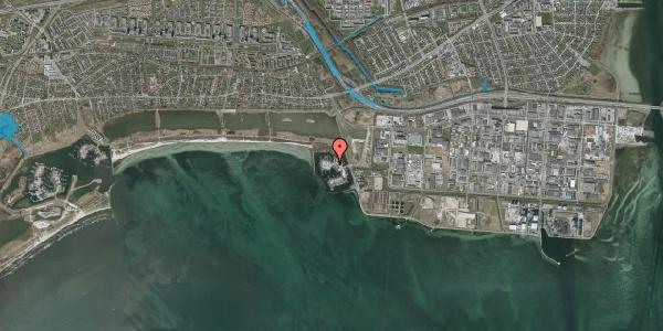 Oversvømmelsesrisiko fra vandløb på Brøndby Havnevej 21B, 2650 Hvidovre