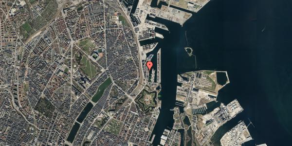 Oversvømmelsesrisiko fra vandløb på Amerika Plads 3A, kl. 18, 2100 København Ø