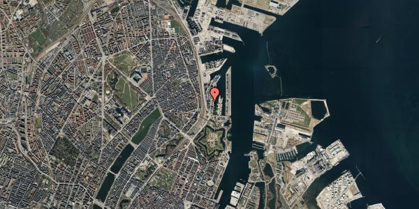 Oversvømmelsesrisiko fra vandløb på Amerika Plads 3D, kl. 48, 2100 København Ø