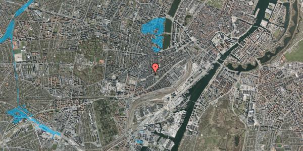 Oversvømmelsesrisiko fra vandløb på Istedgade 95, 2. th, 1650 København V