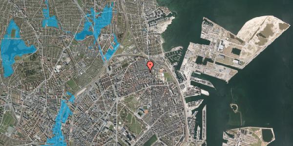 Oversvømmelsesrisiko fra vandløb på Nygårdsvej 3D, 2100 København Ø