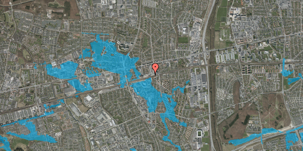 Oversvømmelsesrisiko fra vandløb på Banegårdsvej 30, 2600 Glostrup