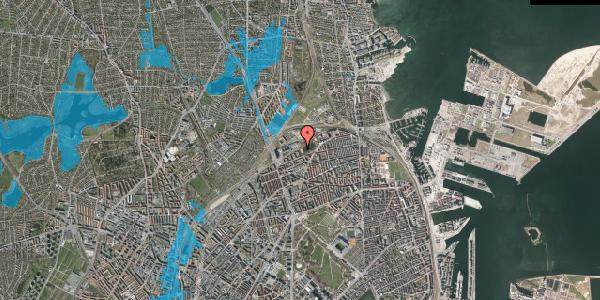 Oversvømmelsesrisiko fra vandløb på Vognmandsmarken 69, 2100 København Ø