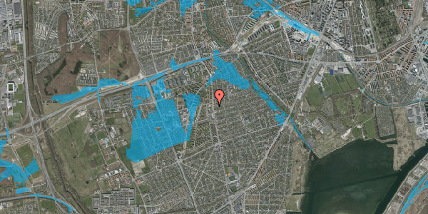 Oversvømmelsesrisiko fra vandløb på Bjeverskov Alle 2, 2. th, 2650 Hvidovre