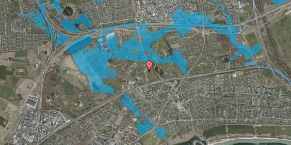 Oversvømmelsesrisiko fra vandløb på Idræts Alle 12, 2625 Vallensbæk