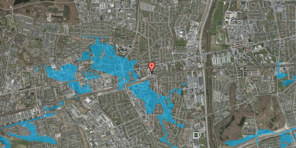 Oversvømmelsesrisiko fra vandløb på Glostrup Shoppingcenter 8, st. , 2600 Glostrup