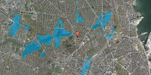 Oversvømmelsesrisiko fra vandløb på Bispebjergvej 73, 2. , 2400 København NV