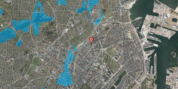 Oversvømmelsesrisiko fra vandløb på Emblasgade 127, 2100 København Ø