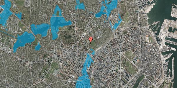 Oversvømmelsesrisiko fra vandløb på Bispebjerg Bakke 8, 2400 København NV