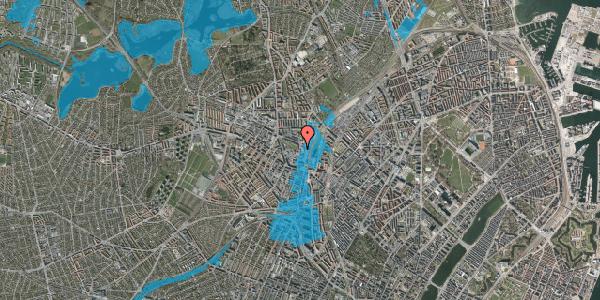 Oversvømmelsesrisiko fra vandløb på Rebslagervej 10, st. 6, 2400 København NV