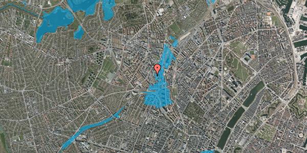 Oversvømmelsesrisiko fra vandløb på Hejrevej 33C, 2400 København NV