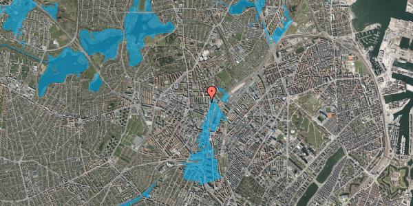 Oversvømmelsesrisiko fra vandløb på Bisiddervej 29, kl. , 2400 København NV