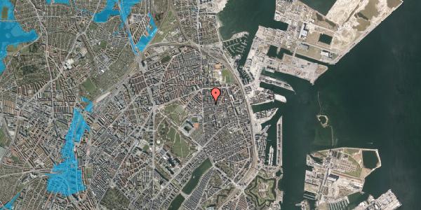 Oversvømmelsesrisiko fra vandløb på Koldinggade 14A, 2. , 2100 København Ø
