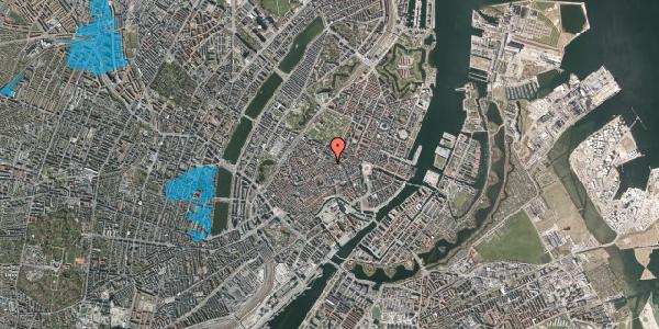 Oversvømmelsesrisiko fra vandløb på Klareboderne 18, 1115 København K