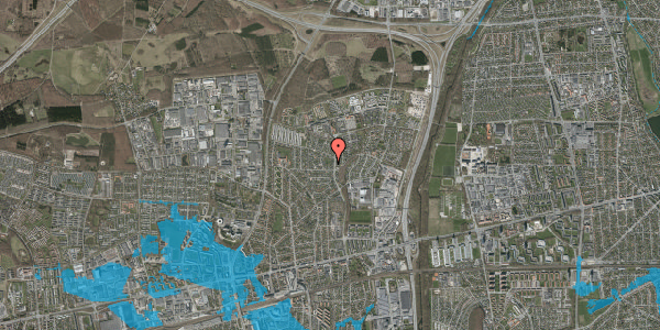 Oversvømmelsesrisiko fra vandløb på Byparkvej 117A, 2600 Glostrup